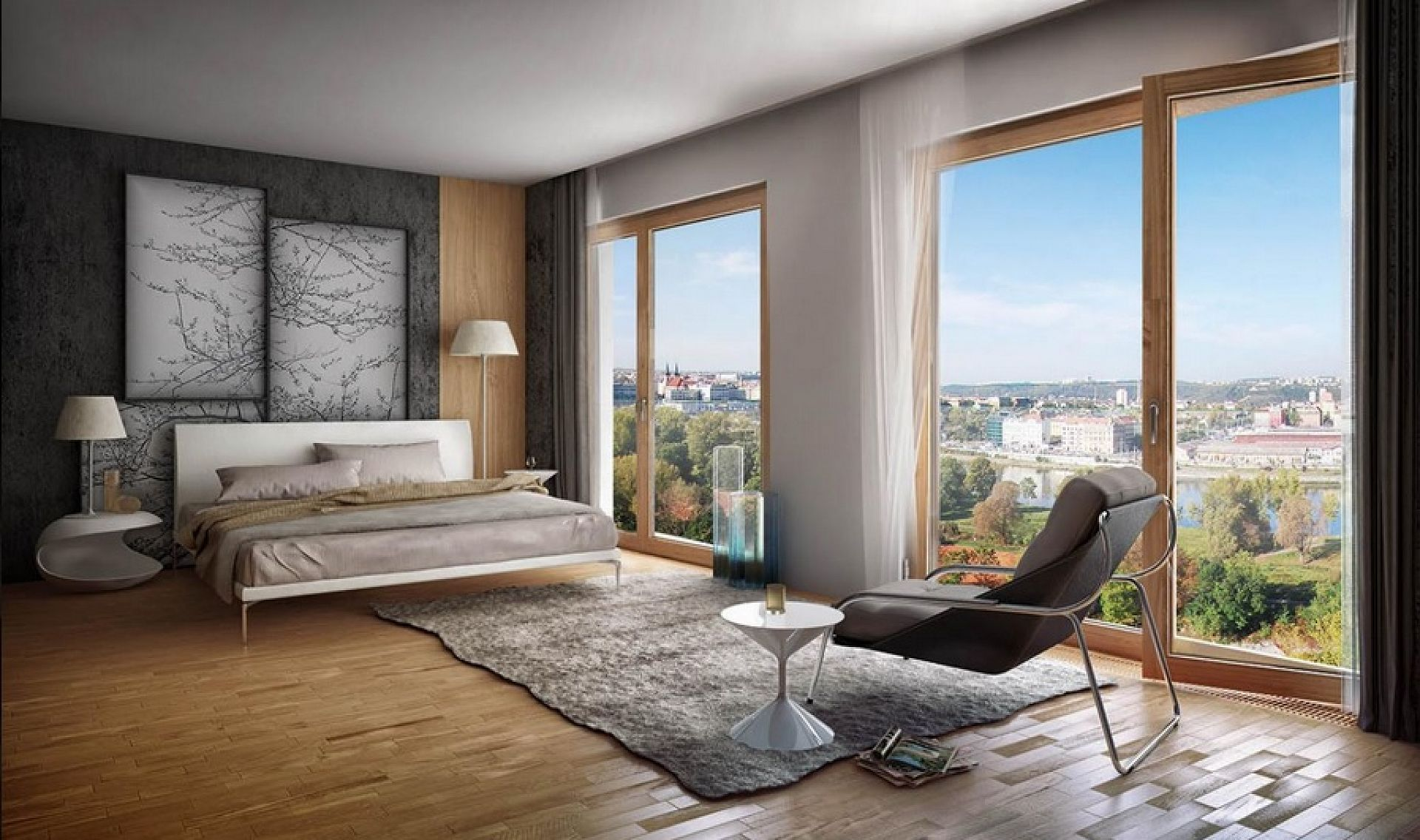 Rohansk n b e karl n prague 8 sale apartment two for A bedroom has a length of x 3